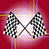 Checkered flags — Stock Photo