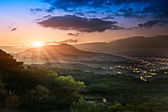 Guanyin Mountain Sunrise, the new Taipei, Taiwan — Stock Photo