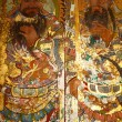 Art on chinese church door — Stock fotografie #8231289