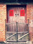Chinese style old door — Stock Photo