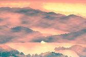 Sunset of Lake waist, the new Taipei, Taiwan — Stock Photo