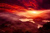 Sunset of Lake waist, the new Taipei, Taiwan — Zdjęcie stockowe