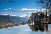 Snow Mountain trailhead huts, Taichung, Taiwan — Stock Photo