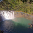 Shifen waterfall is located at Pingxi township in Taipei - Stock Photo