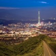 Night scenes of the Taipei city, Taiwan - Stockfoto