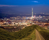 Night scenes of the Taipei city, Taiwan — Stock Photo