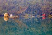 Traditional fishing tools in Sun Moon Lake, Nantou, Taiwan — Stock Photo