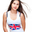 Potrait of asian girl wih britain flag on tank top — Stock Photo #8122706