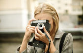 女摄影师 — 图库照片