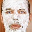 Man with shaving Cream on Face — Stock Photo #7970612