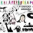 Disco vector mega set mix - Stock Photo