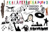 Disco vector mega set mix — Stock Photo