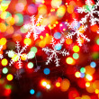 Christmas snowflakes - Stock Photo
