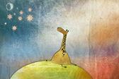 Space Giraffe — Stock Photo