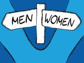 Men and Women — Stock Vector