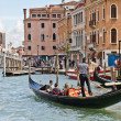Gondolier on Venice Grand Canal — Stock Photo