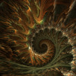 Spiral fractals background - Stock Photo