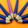 Crescent of pencils — Stock Photo #8160203