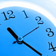 Blue clock — Stockfoto