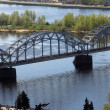 Stock Photo: Salu bridge on Daugava