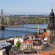 Riga Old Town and Vansu Bridge — Stock Photo
