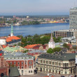 Riga Old Town and Daugava — Stock Photo