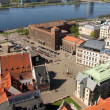 City Council Square & Daugava — Stock Photo