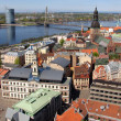 Riga on the shores of Daugava — Stock Photo