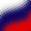 Stock Photo: Blue, red, white halftone