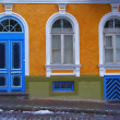 Colorful architecture: yellow - Stock Photo