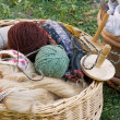 Stock Photo: Yarn Basket
