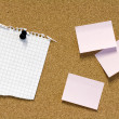 Stock Photo: Notes on pinboard