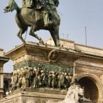 Vittorio Emanuele II Statue — Stock Photo #8162114