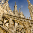 Milan Cathedral roof — Stock Photo