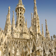 Milan Cathedral roof and Madonnina — Stock Photo