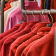 Stock Photo: Red polar fleece jackets