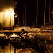 Stock Photo: Yachts in night