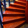 Orange stairs — Stock Photo