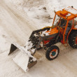 Plowing Snow — Stock Photo