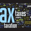 Stock Photo: Tax background