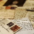 Vintage postcards — Stock Photo