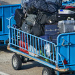 Stock Photo: Baggage trolley at airport