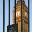 Stock Photo: Trespass sign and Big Ben