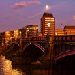 Lambeth Bridge at night - Stock Photo