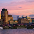 Stock Photo: Sunset London