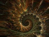 Spiral fractals background — Stock Photo