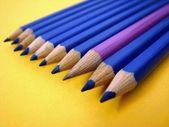 Linha de lápis — Fotografia Stock