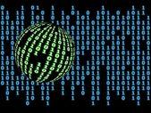 Binary world — Stock Photo