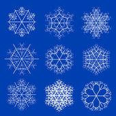 White snowflakes — Stok fotoğraf