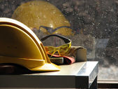 Builder's hard hat — Stock Photo